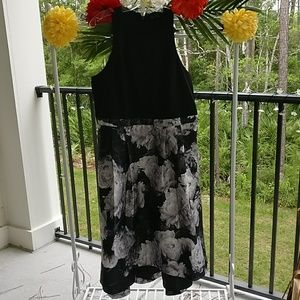 City Chic black floral party dress NWT
